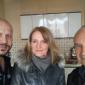 Roman Machník, realitní makléř, s klienty na předání bytu